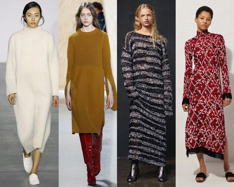Модные платья 2017 из трикотажа
