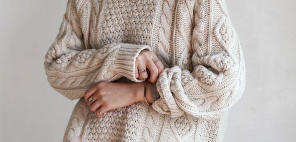 Аранские (ирландские) свитера объемной вязки зима 2016-2017