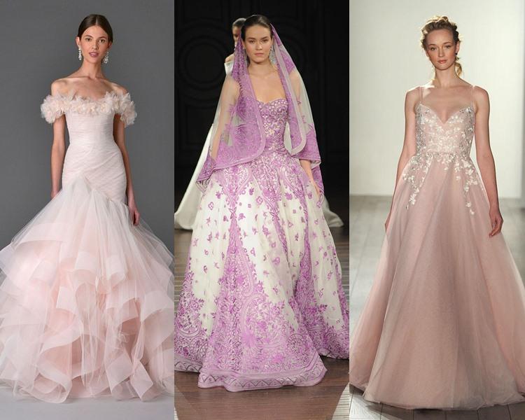 Модные свадебные платья тенденции 2017: оттенки розового