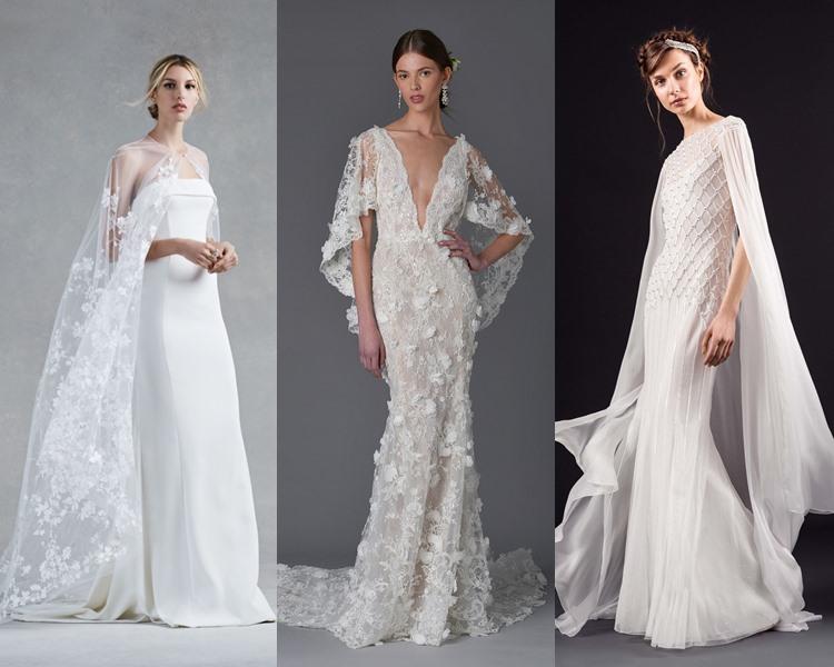 Модные свадебные платья тенденции 2017: кейпы