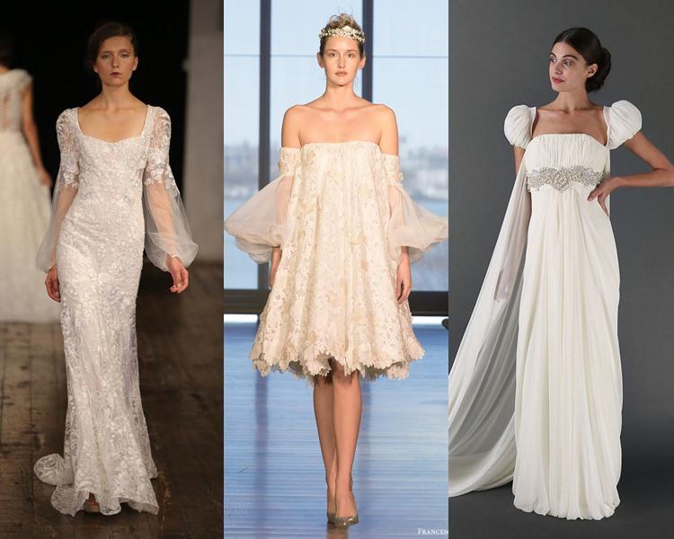 Модные свадебные платья тенденции 2017: объёмные рукава фонарики