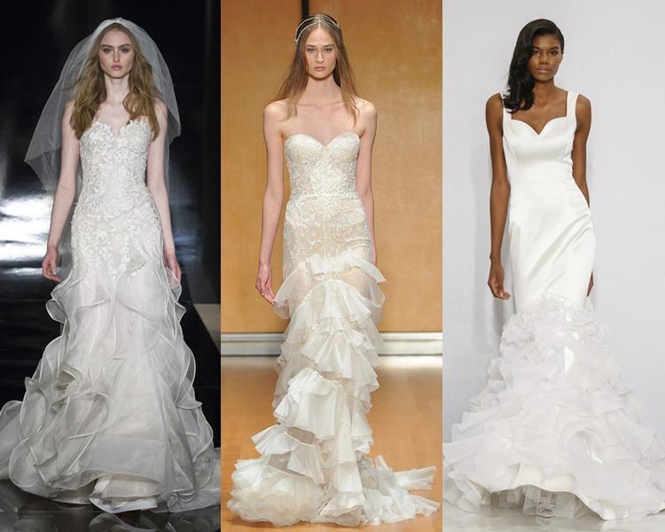 Модные свадебные платья тенденции 2017: многоярусные оборки