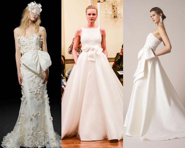 Модные свадебные платья тенденции 2017: крупные банты