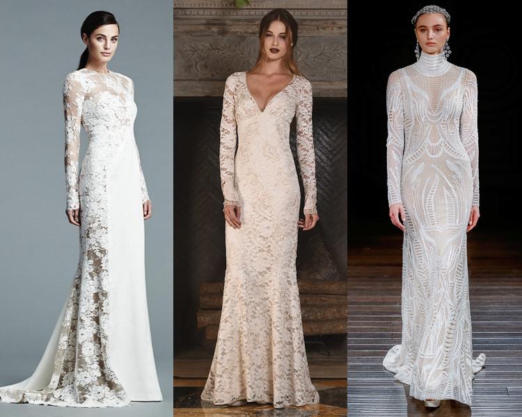 Модные свадебные платья тенденции 2017: длинный рукав