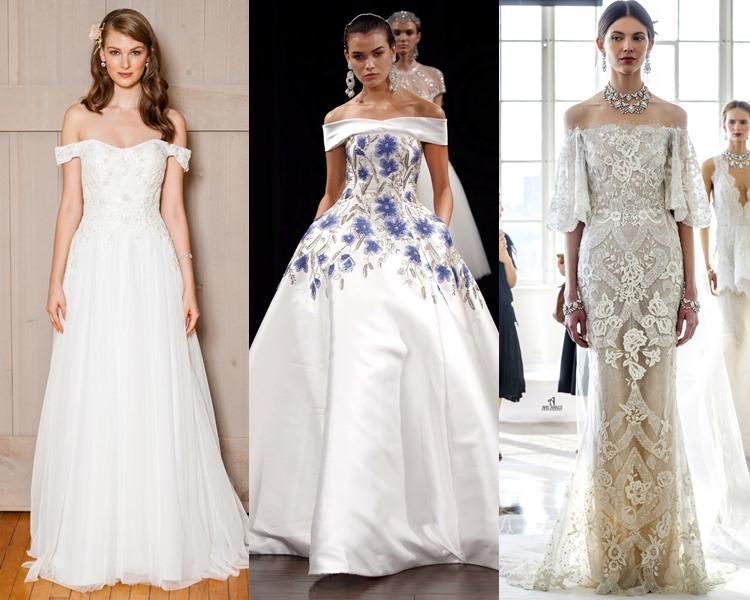 Модные свадебные платья тенденции 2017: открытые плечи