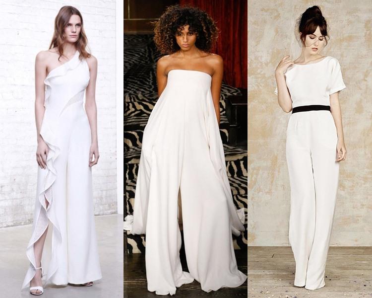 Модные свадебные платья тенденции 2017: комбинезоны