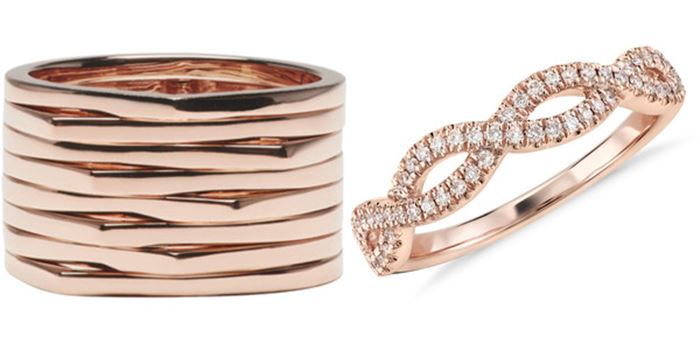 Кольца из розового золота все чаще пополняют ювелирные коллекции украшений  с бриллиантами. Они становятся более выразительной альтернативой кольцам из  ... 3a212c7c1a9