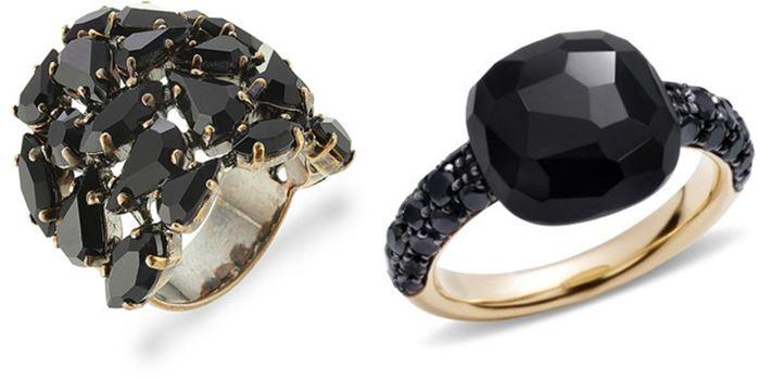 Рассмотрите стильные кольца с черными бриллиантами, ониксами, агатами,  которые придают кольцам очарование готики и приглушенный, но выразительный  шик. ab3e1a6fdab