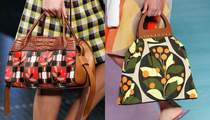 Модные женские сумки весна-лето 2017: цветочный принт