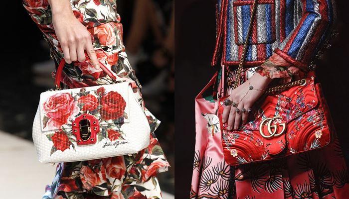 Модные женские сумки весна-лето 2017: цветочный узор