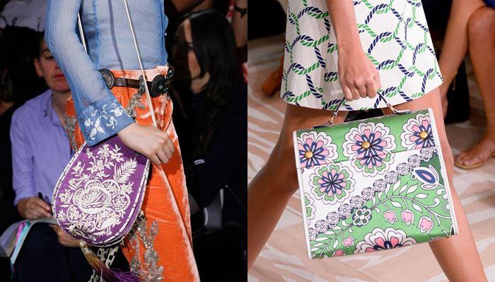 Модные женские сумки весна-лето 2017: цветочный рисунок