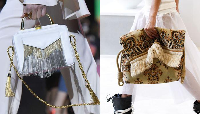 Модные женские сумки весна-лето 2017: отделка бахромой