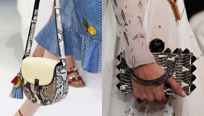 Модные женские сумки весна-лето 2017: змеиный принт