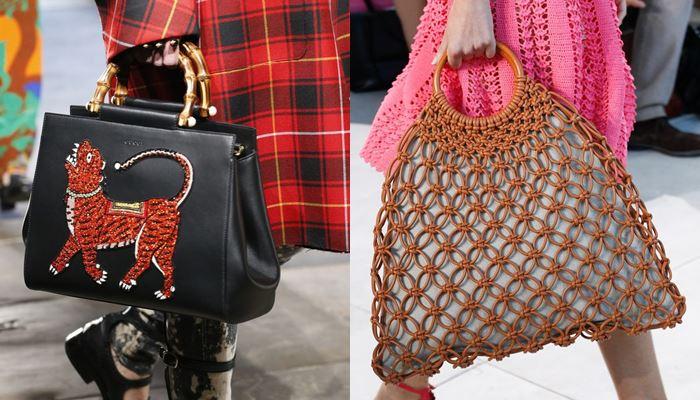 Модные женские сумки весна-лето 2017: жёсткая деревянная ручка