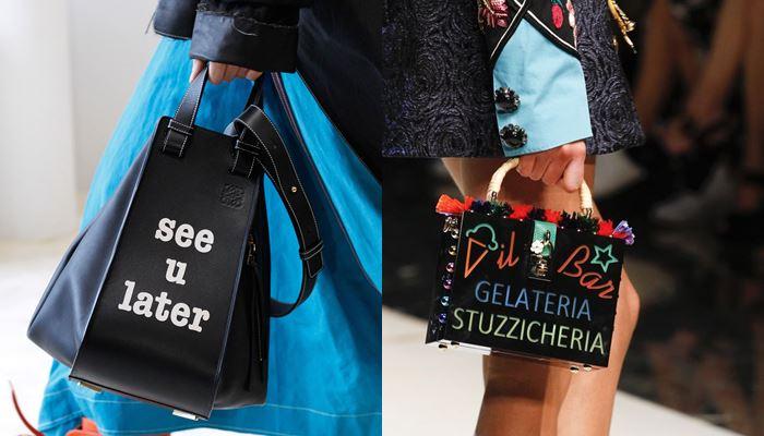 Модные женские сумки весна-лето 2017: леттеринг