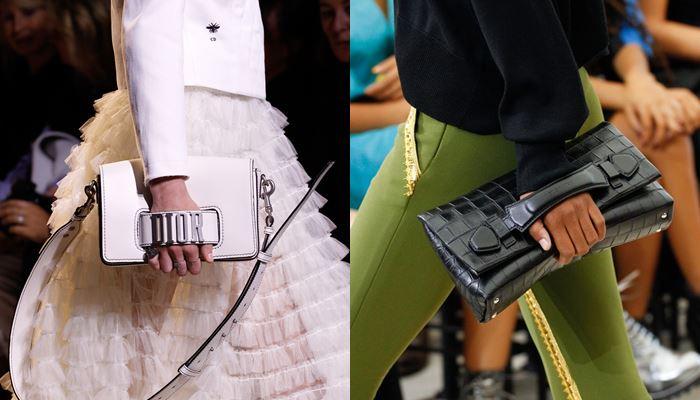 Модные женские сумки весна-лето 2017: клатчи с боковой ручкой