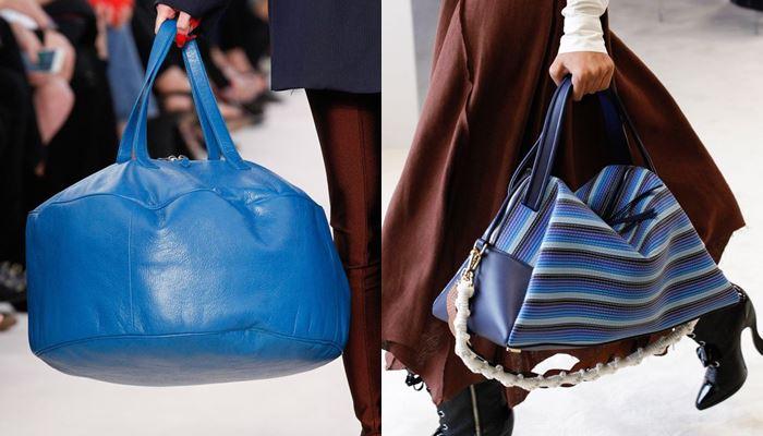 Модные женские сумки весна-лето 2017: объёмные синие