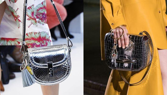 Модные женские сумки весна-лето 2017:  серебряные змеиные и крокодиловые