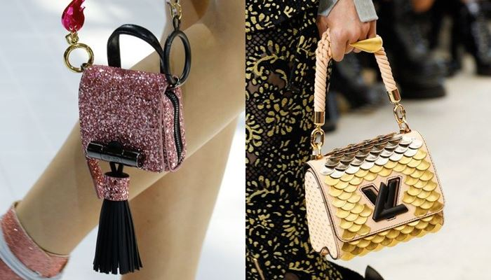Модные женские сумки весна-лето 2017:  блестящие