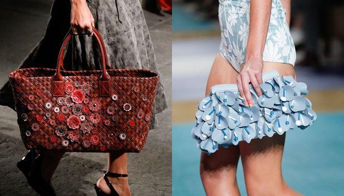 Модные женские сумки весна-лето 2017:  объёмный декор