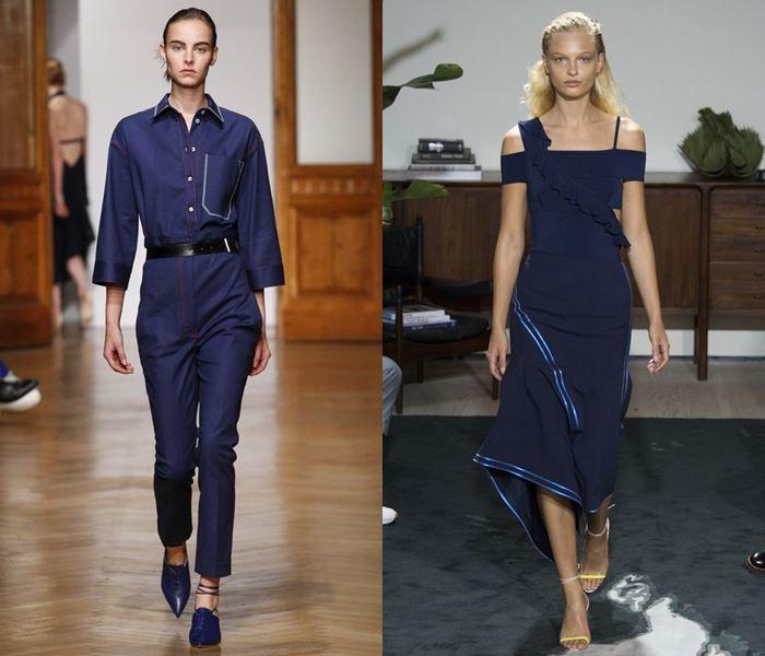 Модные цвета весна-лето 2017: тёмно-синий