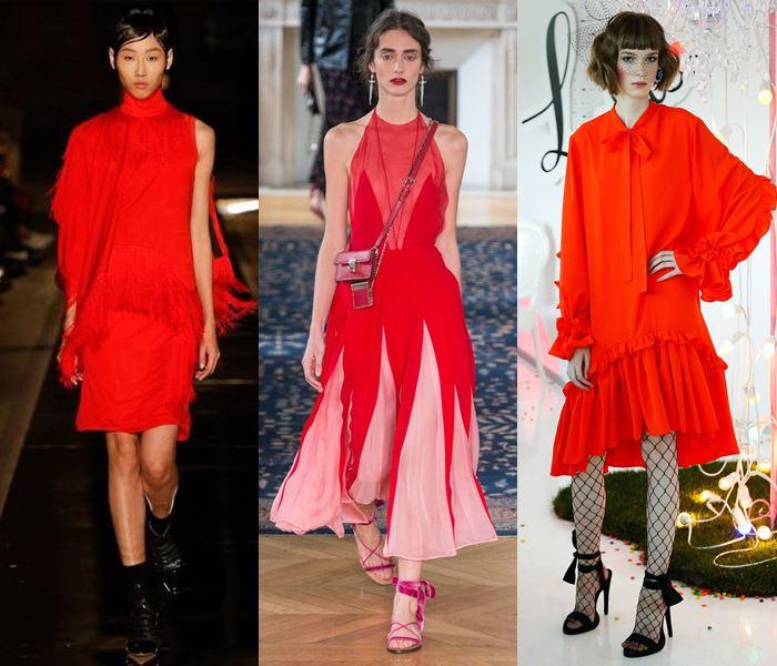 Модные цвета весна-лето 2017: ослепительный сочный красный
