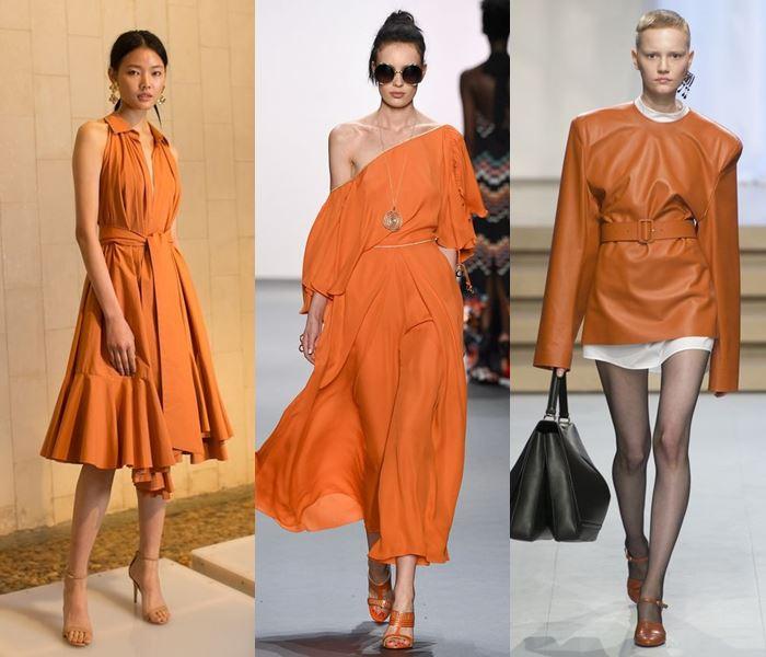 Модные цвета весна-лето 2017: рыжий оранжевый