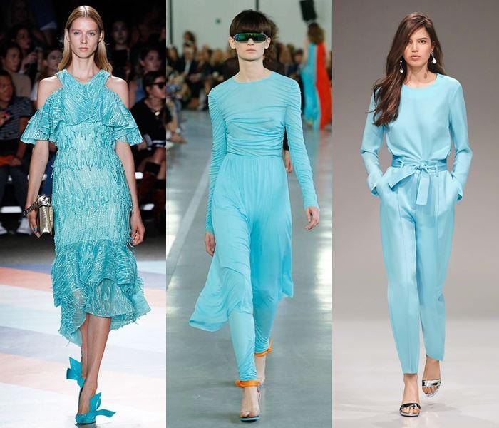 Модные цвета весна-лето 2017: аквамариновый
