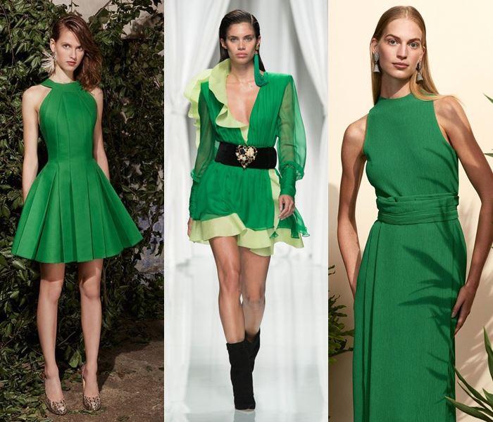 Модные цвета весна-лето 2017: травянистый зелёный