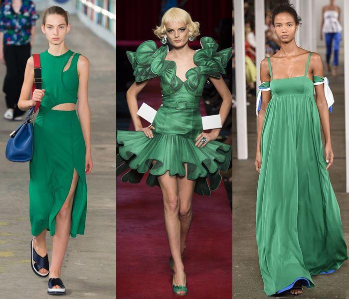 Модные цвета весна-лето 2017: яркий зелёный