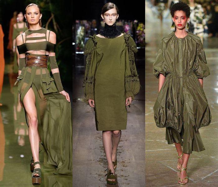 Модные цвета весна-лето 2017: тёплый хаки