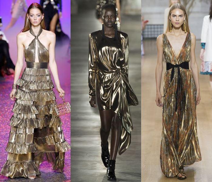 Модные цвета весна-лето 2017: золотой металлик