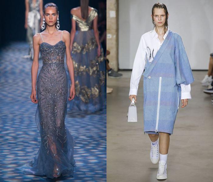 Модные цвета весна-лето 2017: холодный приглушенный синий