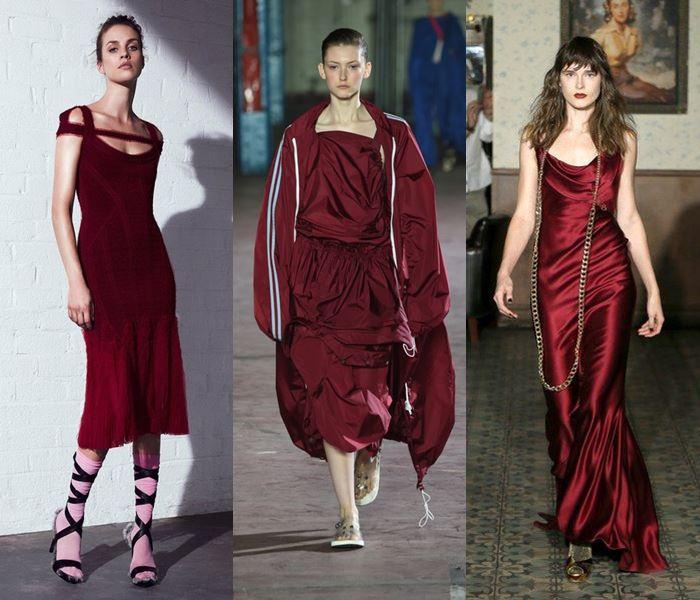 Модные цвета весна-лето 2017: марсала