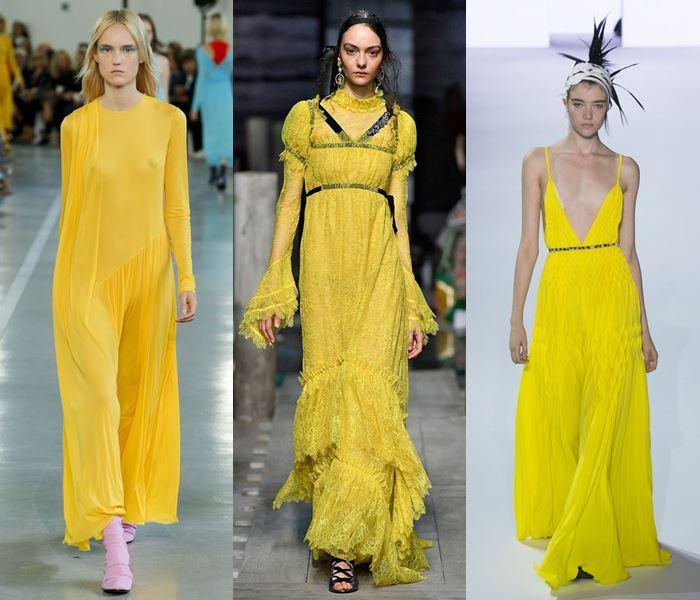Модные цвета весна-лето 2017: яркий жёлтый