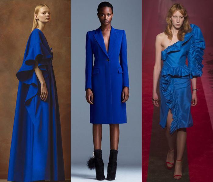 Модные цвета весна-лето 2017: королевский синий