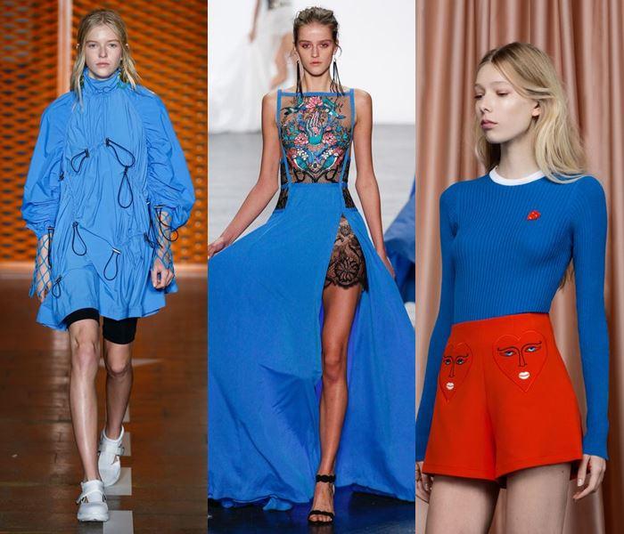 Модные цвета весна-лето 2017: яркий электрический голубой