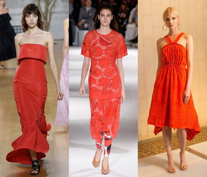 Модные цвета весна-лето 2017: оранжево-красный