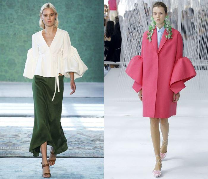 Тенденции моды весна-лето 2017: расклешенные рукава