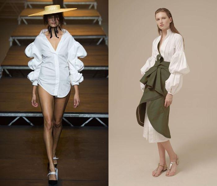 Тенденции моды весна-лето 2017: рукава фонарики