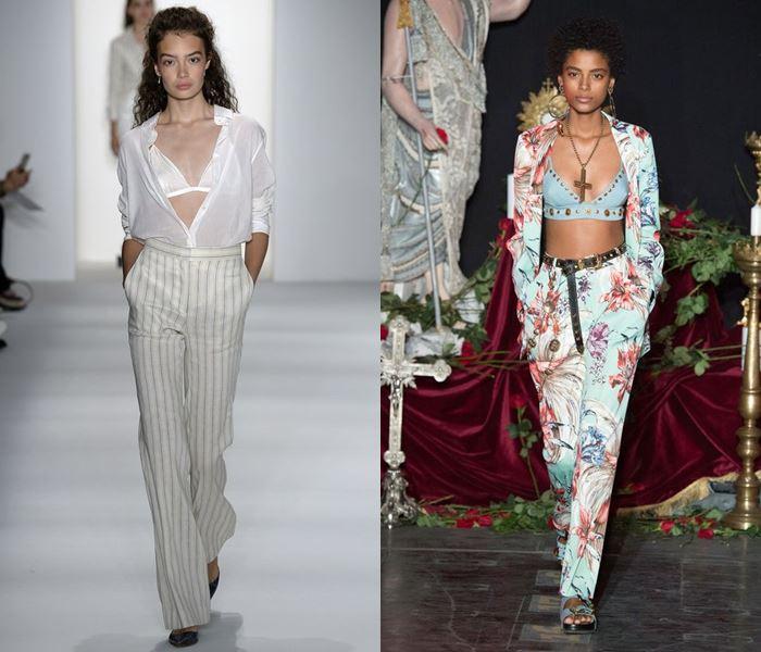 Тенденции моды весна-лето 2017: лифы с брюками