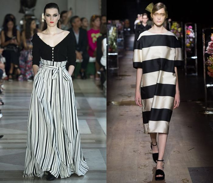 Тенденции моды весна-лето 2017: чёрно-белая полоска