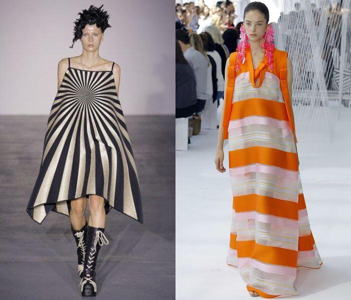 Тенденции моды весна-лето 2017: широкие платья в полоску