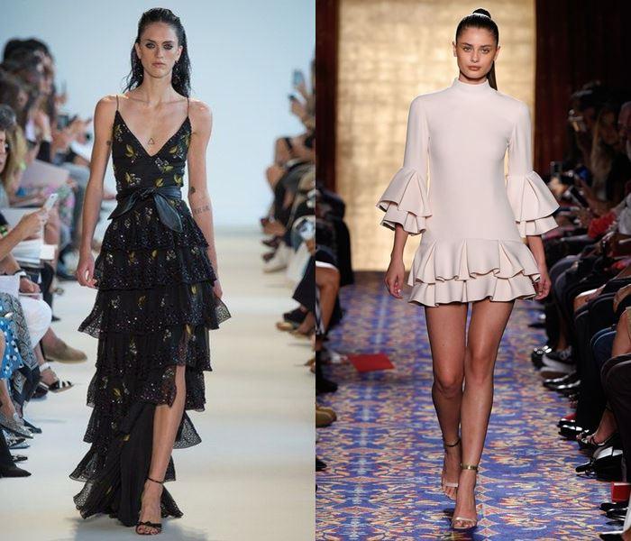 Тенденции моды весна-лето 2017: платья с воланами