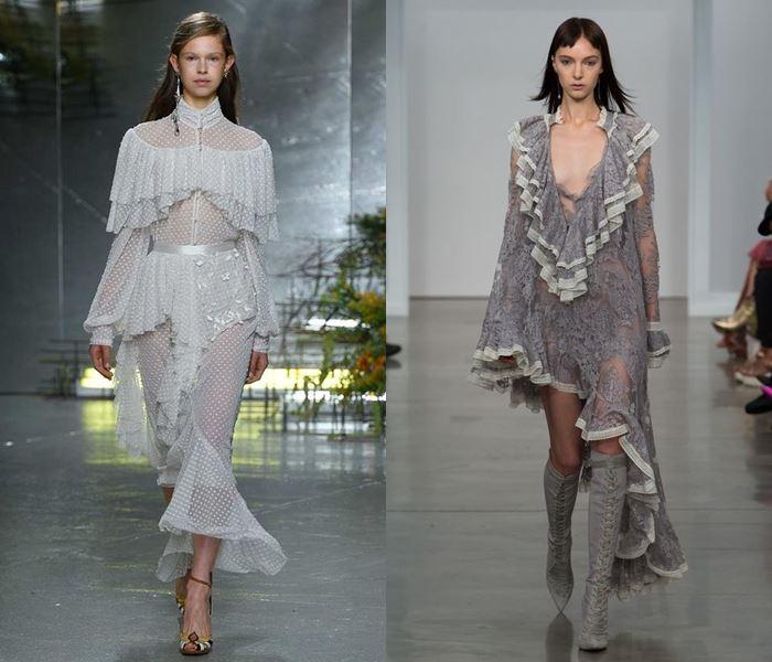 Тенденции моды весна-лето 2017: серые платья с воланами