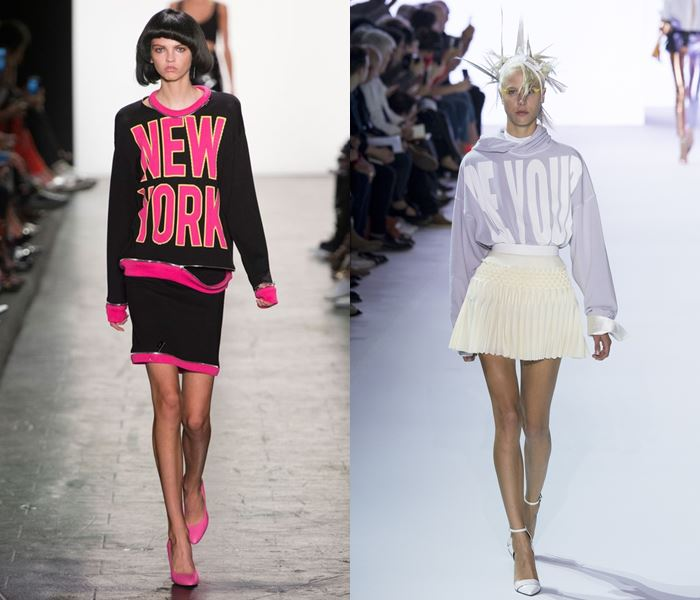 Тенденции моды весна-лето 2017: топы с надписями