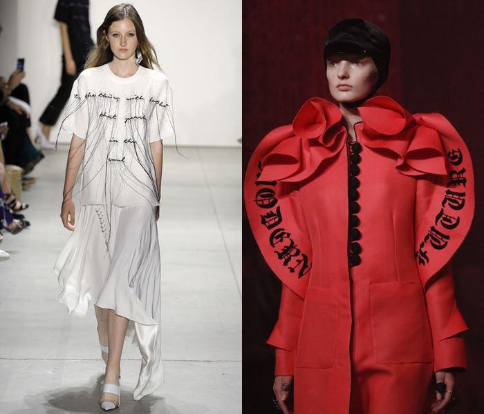 Тенденции моды весна-лето 2017: надписи на одежде