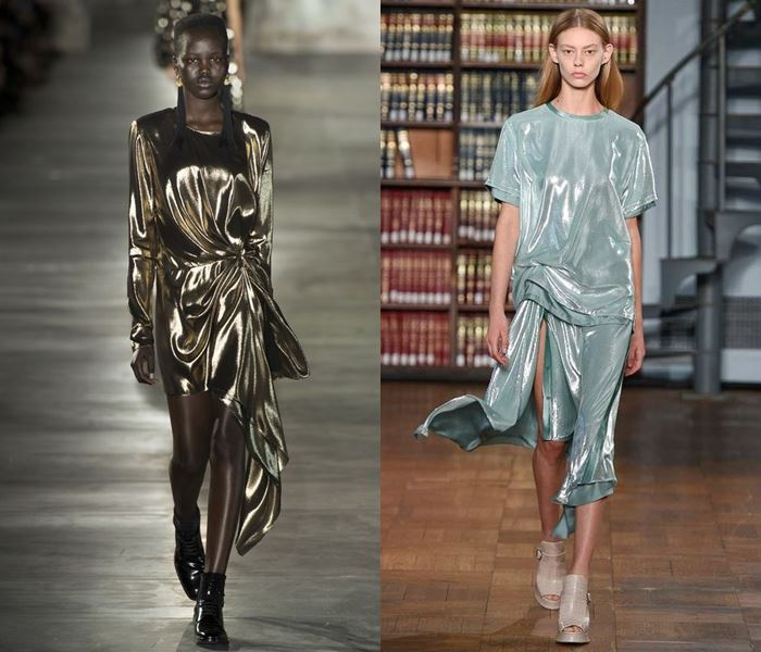 Тенденции моды весна-лето 2017: платья металлик