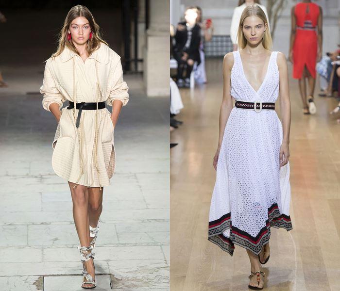 Тенденции моды весна-лето 2017: платья с ремнями