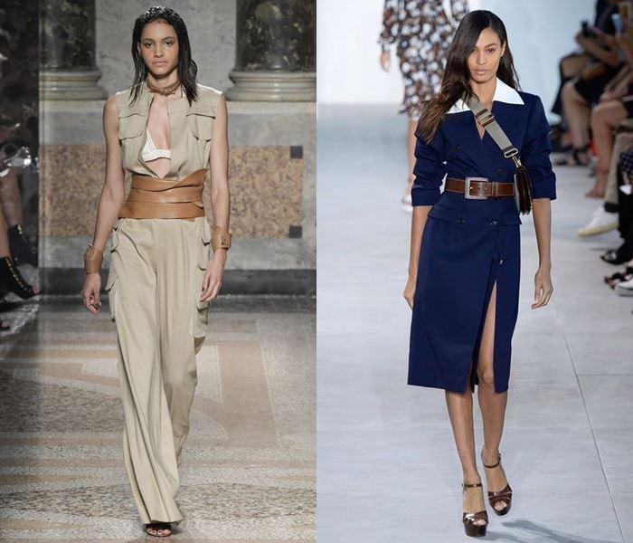 Тенденции моды весна-лето 2017: широкие кожаные ремни